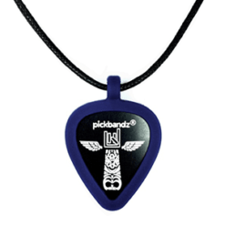 Guitar Pick - Pickbandz necklace Blue