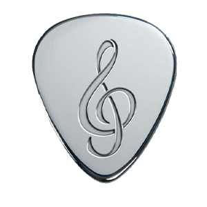 Silver Pick - Music Note